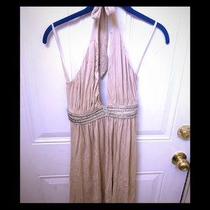 SKY Beige BLING Dress